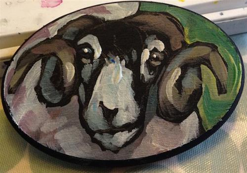 """Tod Sheep"" original fine art by Kat Corrigan"