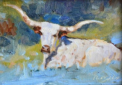 """Texas"" original fine art by Charlotte Cox"