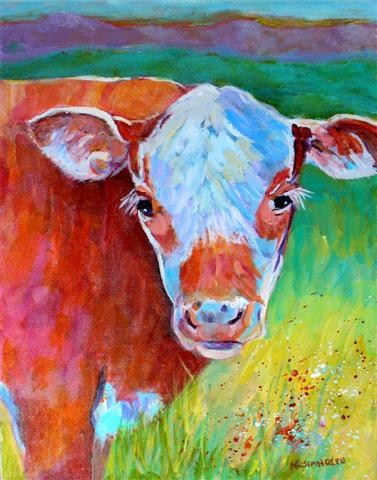 """Texas Calf 12052"" original fine art by Nancy Standlee"