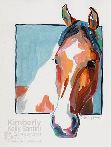 """""""Smitty, A Painted Sketch"""" original fine art by Kimberly Santini"""