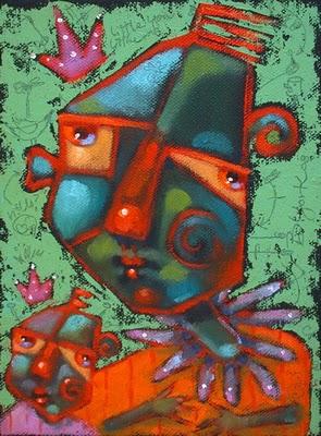 """Copycat"" original fine art by Brenda York"