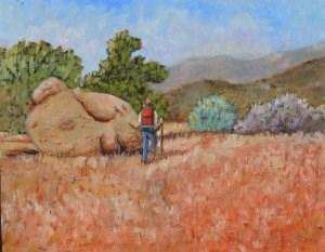 """Solo Hiker"" original fine art by Robert Frankis"