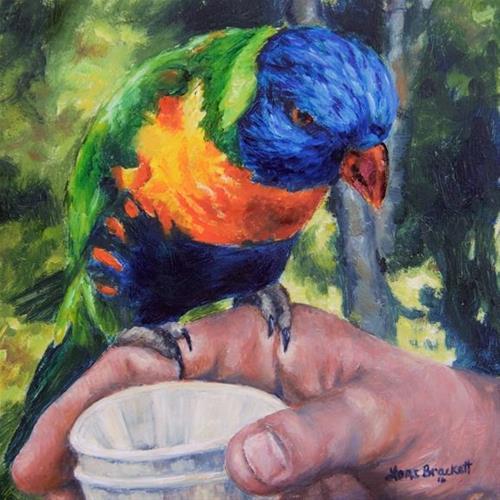 """Drinks On Me"" original fine art by Lori Brackett"