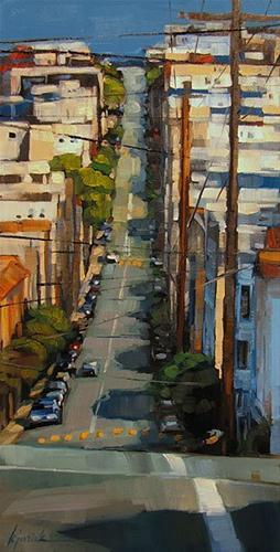 """Hill Country"" original fine art by Karin Jurick"