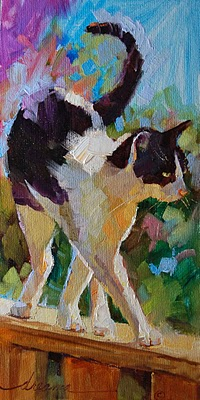"""""""On the Catwalk SOLD"""" original fine art by Dreama Tolle Perry"""