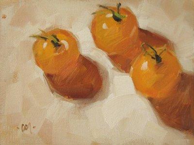 """Tomato Babies"" original fine art by Carol Marine"