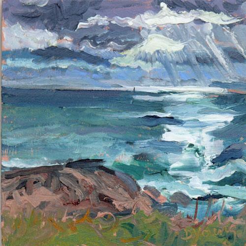 """Holland Point Sunset"" original fine art by Darlene Young"