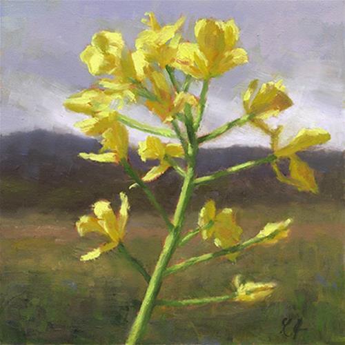 """Glowing Mustard"" original fine art by Linda Jacobus"