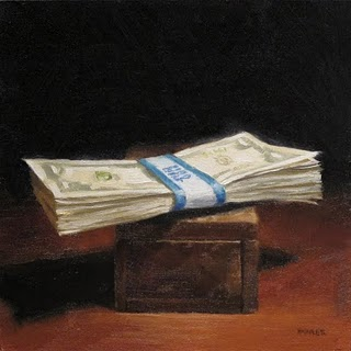 """Stack of Bread"" original fine art by Michael Naples"