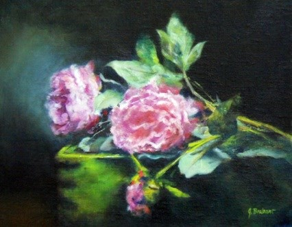 """Paeonia Pink Delight"" original fine art by Jill Brabant"