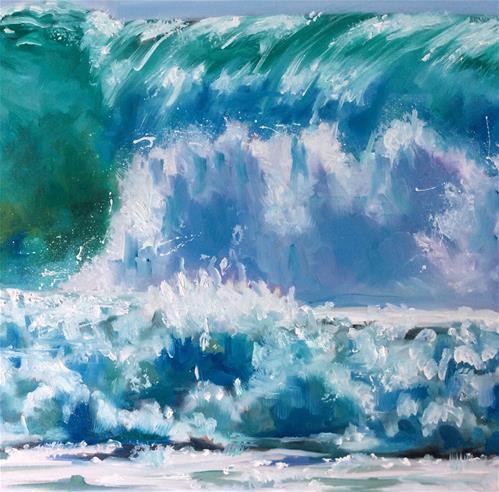 """Atlantic Ocean Wave"" original fine art by Sonja Neumann"