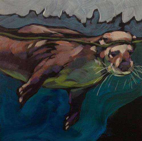 """Interruption"" original fine art by Kat Corrigan"