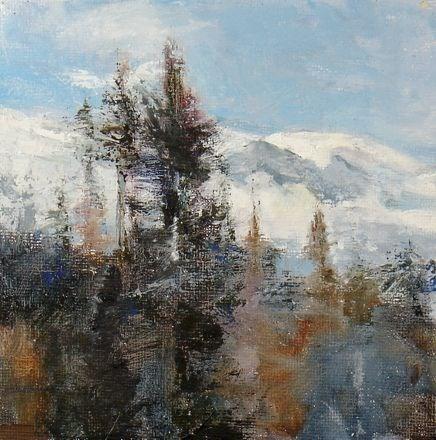 """""""OVER THE PASS"""" original fine art by Susan Hammer"""