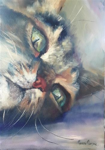 """Thinking"" original fine art by Rentia Coetzee"