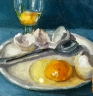 """""""Breakfast of Champions"""" original fine art by Kristen Dukat"""