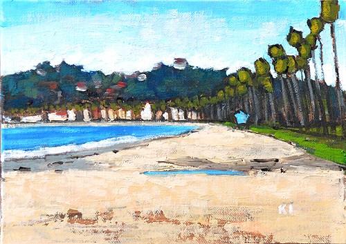 """""""East Beach Santa Barbara Plein Air"""" original fine art by Kevin Inman"""