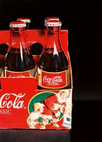 """Christmas Coke"" original fine art by Jacqueline Gnott, TWSA, WHS"