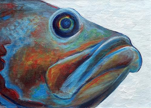 """""""4118 - A Face only a mother could love"""" original fine art by Sea Dean"""