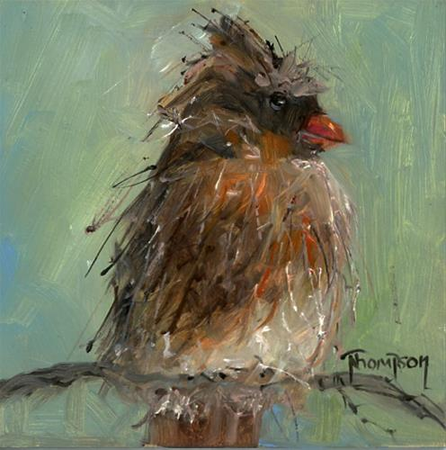 """""""Brown Bird"""" original fine art by Norma Thompson"""