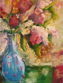"""""""Time won't leave me as I am"""" original fine art by Maggie Flatley"""