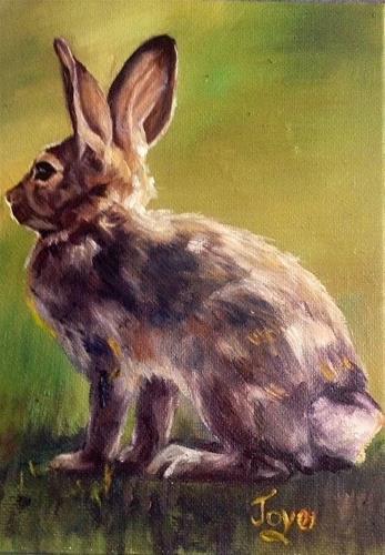 """""""Killer Dust Bunny by Joye DeGoede"""" original fine art by Joye DeGoede"""