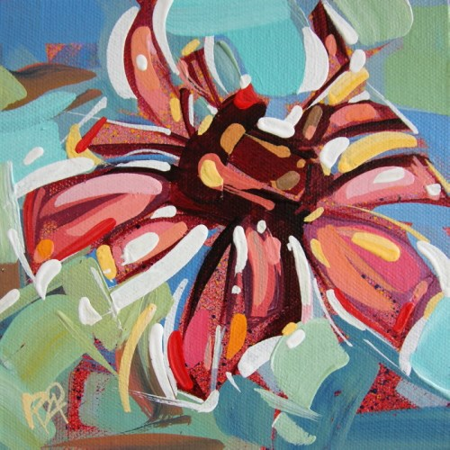 """""""Flower Abstraction 223"""" original fine art by Roger Akesson"""