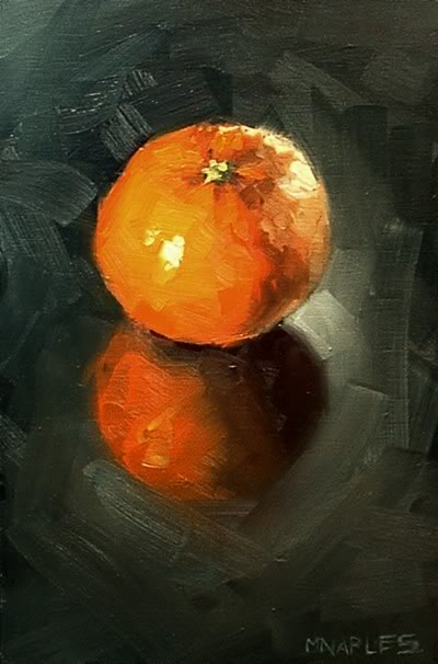 """""""Clementine with Reflection"""" original fine art by Michael Naples"""