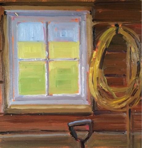 """Garage view"" original fine art by Deborah Newman"