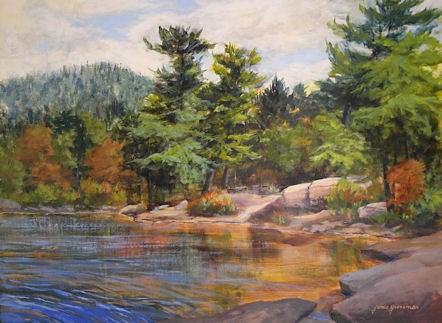 """Windy Little Cove"" original fine art by Jamie Williams Grossman"