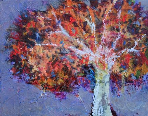 """""""It's A Beautiful Tree 2, Contemporary Landscape Paintings by Arizona Artist Amy Whitehouse"""" original fine art by Amy Whitehouse"""
