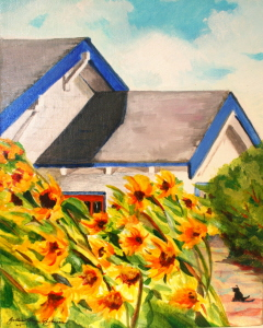 """Pescadero Beach House"" original fine art by JoAnne Perez Robinson"