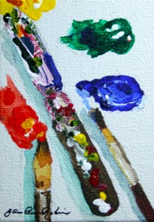 """My Life : D"" original fine art by JoAnne Perez Robinson"