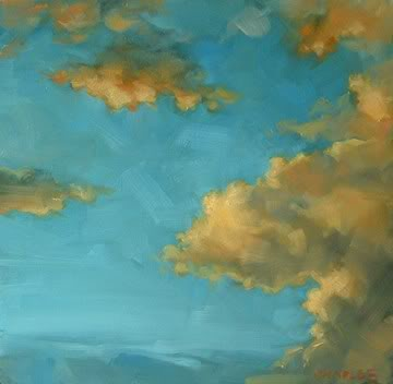 """Sunset Colored Clouds"" original fine art by Michael Naples"