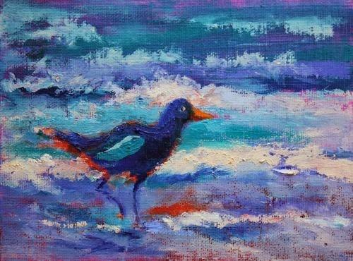 """Seabird 4, Bird Paintings by Arizona Artist Amy Whitehouse"" original fine art by Amy Whitehouse"