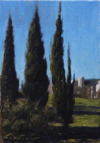"""""""Lisbon Park"""" original fine art by Phil Couture"""