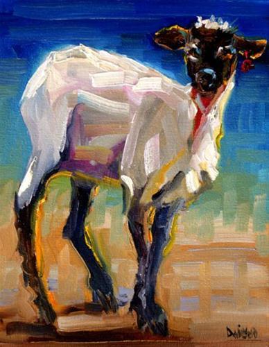 """Lamb, SHEEP OIL PAINTING DIANE WHITEHEAD FINE ART"" original fine art by Diane Whitehead"