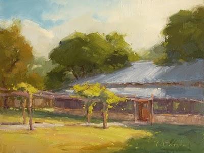 """""""Country Pavilion"""" original fine art by Laurel Daniel"""