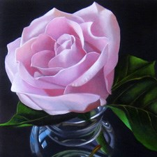 """Pinky 4x4"" original fine art by M Collier"