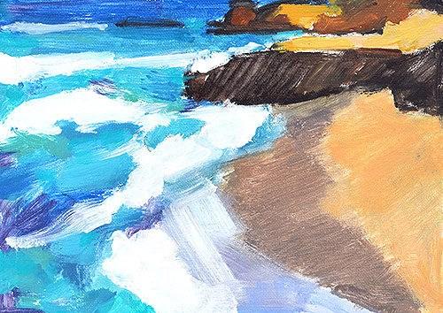 """La Jolla Beach"" original fine art by Kevin Inman"