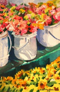 """Saturday Morning"" original fine art by JoAnne Perez Robinson"