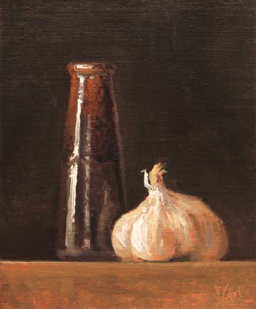 """Handmade Vase with Garlic"" original fine art by Abbey Ryan"
