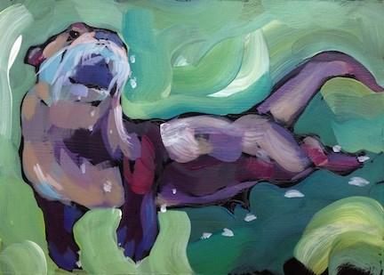 """Rising"" original fine art by Kat Corrigan"
