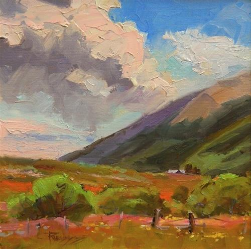 """At the Edge of Town  Crested Butte, plein air landscape painting by Robin Weiss"" original fine art by Robin Weiss"