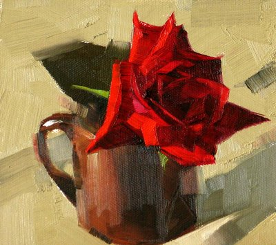 """Red Rose 2 --- Sold"" original fine art by Qiang Huang"