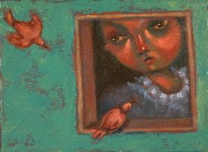 """Birds Of A Feather"" original fine art by Brenda York"