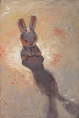 """Bad Bunny"" original fine art by Raymond Logan"