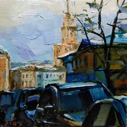"""Moskau"" original fine art by Jurij Frey"