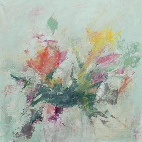 """Abstract Floral"" original fine art by Pamela Munger"