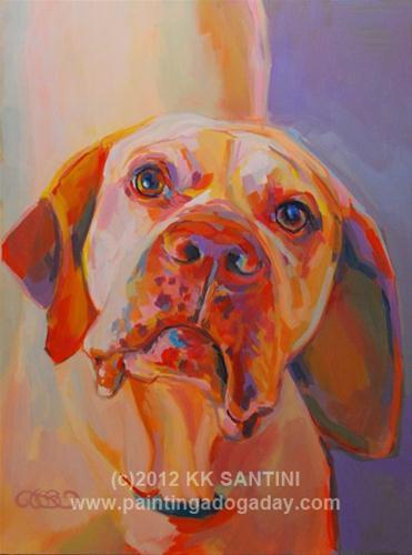 """""""Rush"""" original fine art by Kimberly Santini"""