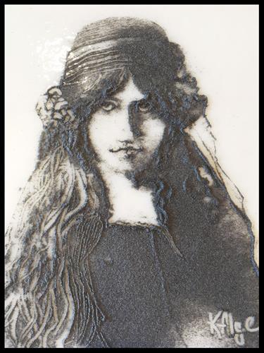 """""""'Jeanne Hebuterne', Tragic Women in the Arts series"""" original fine art by Kelly Alge"""